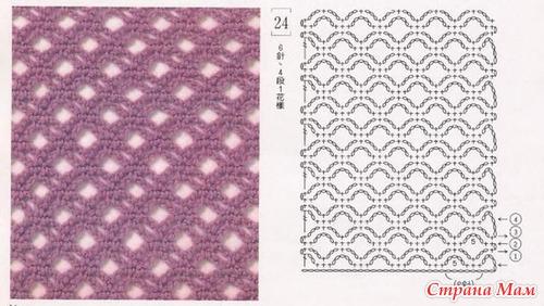 Узоры для вязания шалей и палантинов крючком