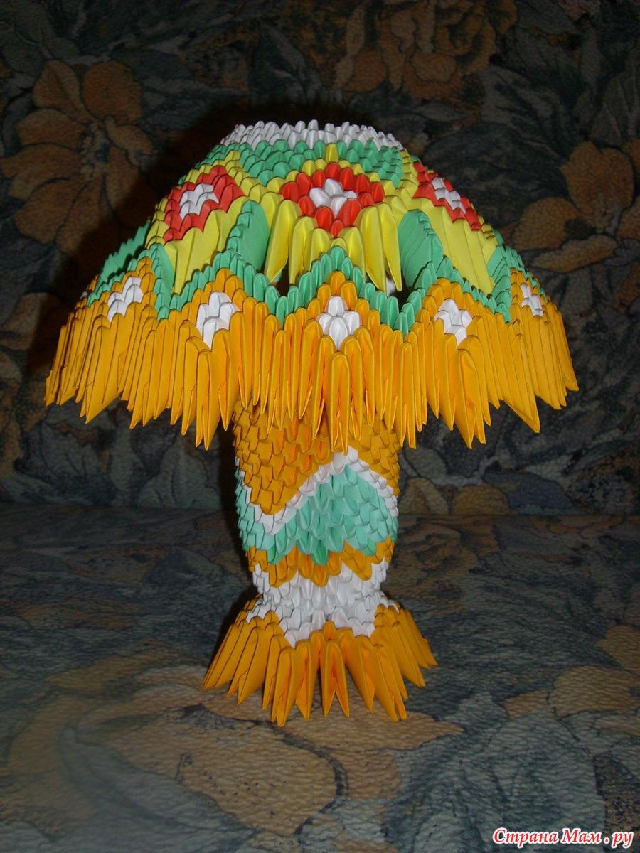 Модульное оригами настольная лампа схема