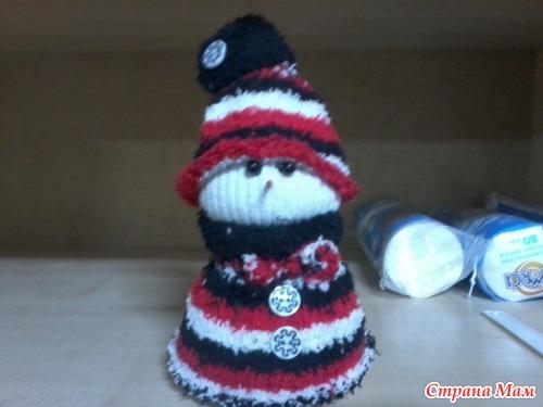 Совместник по пошиву Елочки и Снеговика из носочков :-)