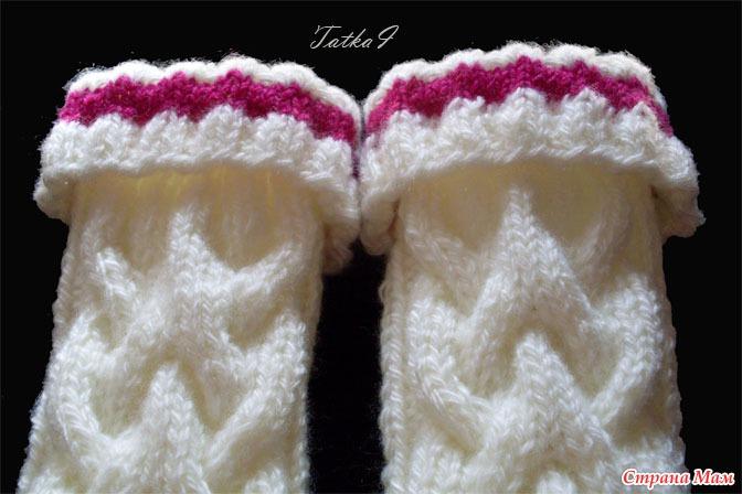вязание спицами для детей гетры