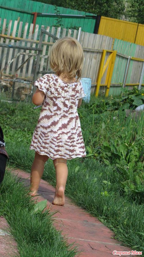 Связала платье для маленьких модниц