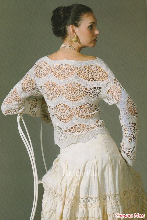 *Удивительной нежности и красоты ажурный блузон