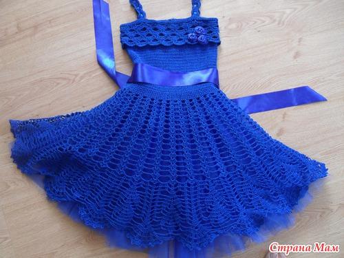 Платье крючком на День Рождения