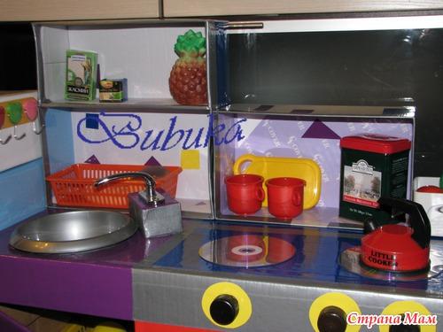 Холодильник. СВЧ. Детский кухонный гарнитур с техникой своими руками. (много фоток)