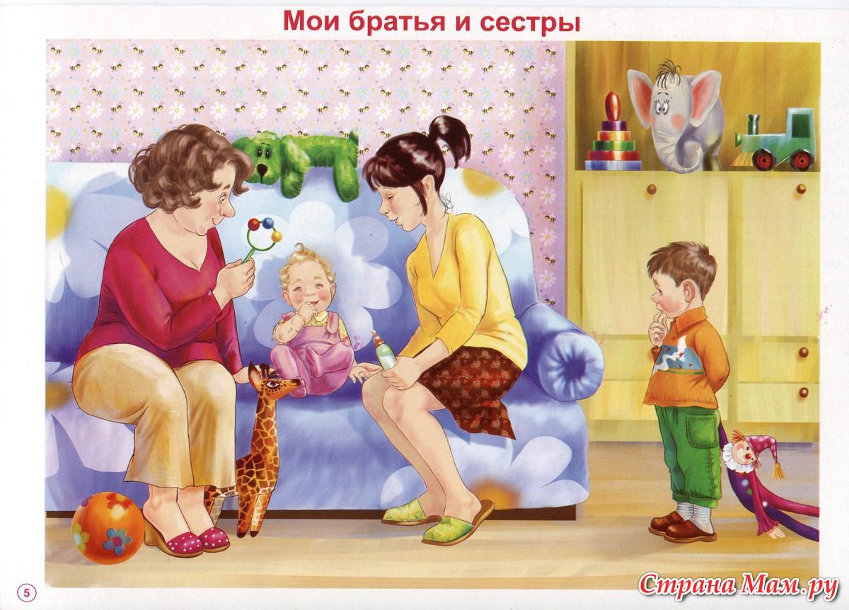 Сюжетные картинки для родителей