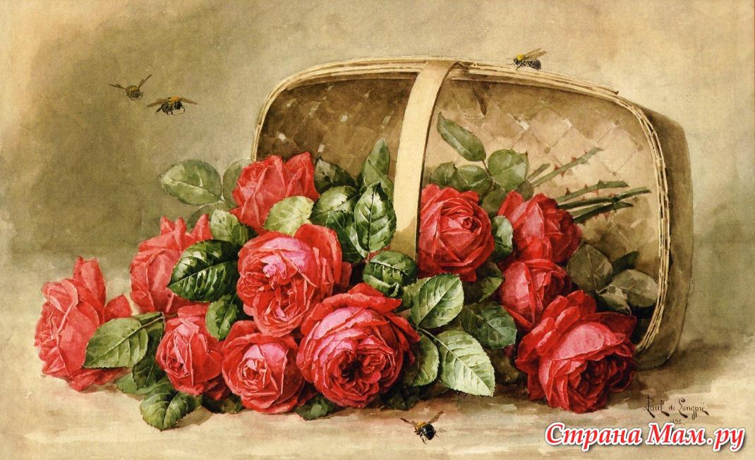 картинки для декупажа винтаж цветы