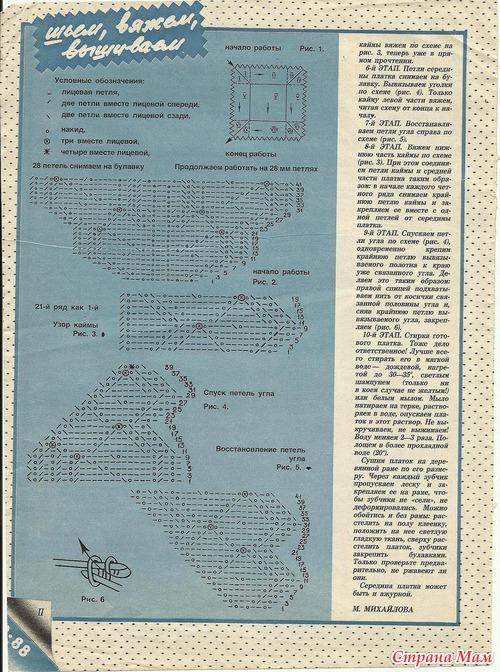 Как связать оренбургский платок