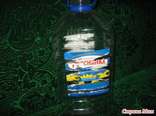 Люлька для куклы из пластиковой бутылки