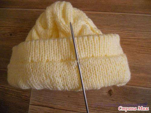 МК Двойная шапочка с помпоном (очень подробно)