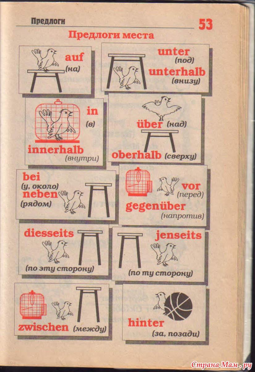 Немецкие предлоги в картинках, кристине цветами пусть
