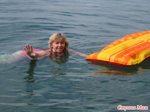 Выгул красного купальника для Юляхи персонально