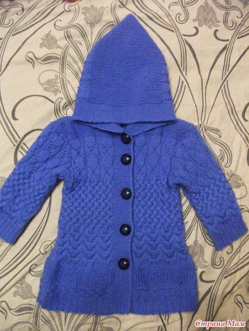Вязание пальто новорожденному