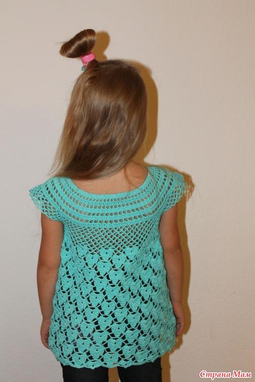 Crochet túnica delicado 5 años (diagrama y descripción)