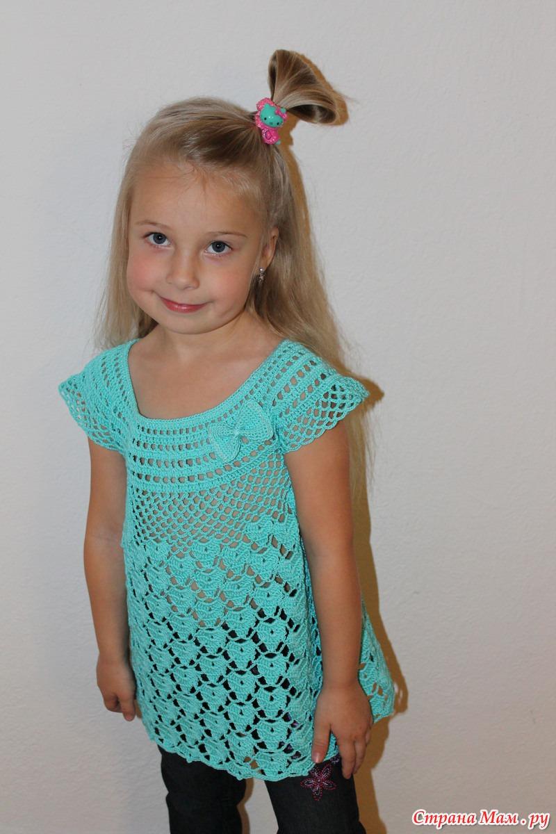 Вязание крючком для девочки 2 3 года схемы