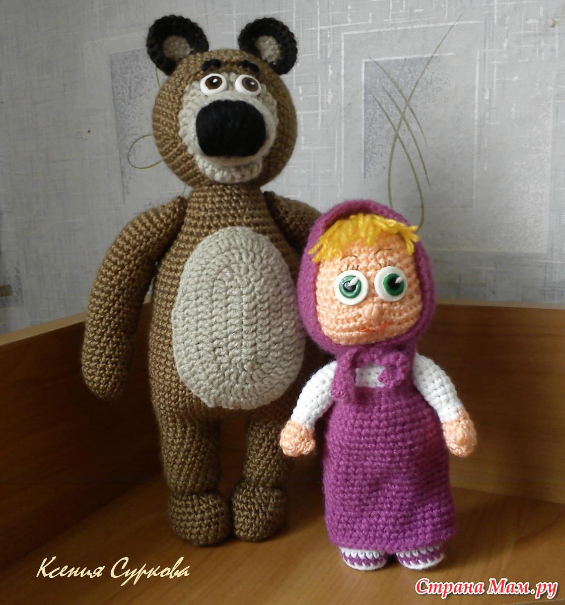 Маша и медведь крючком схема и описание фото 130
