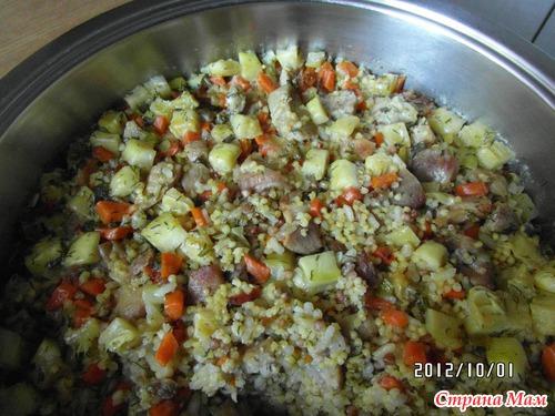 Каша из 3 круп с овощами
