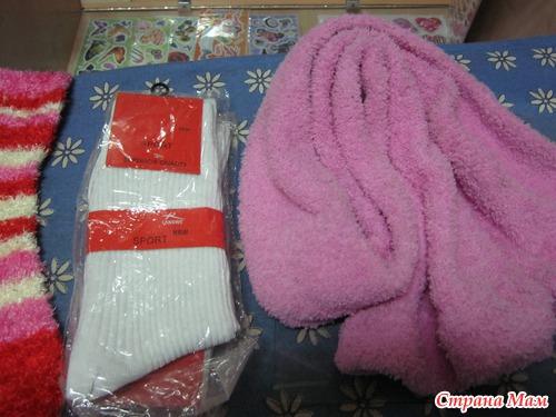 Совместник по пошиву Елочки и Снеговика из носочков :-) Начинаем!