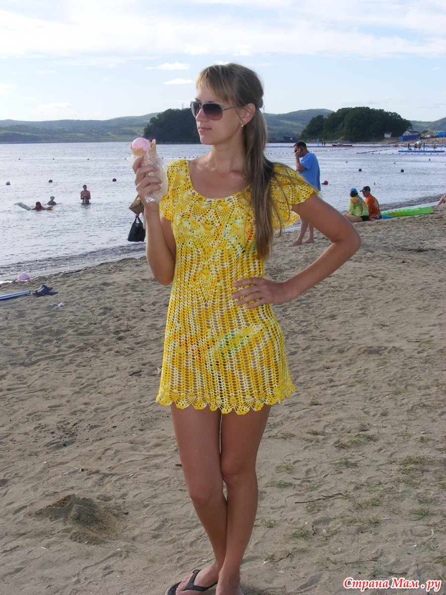 Вязание крючком пляжная туника схемы страна мам