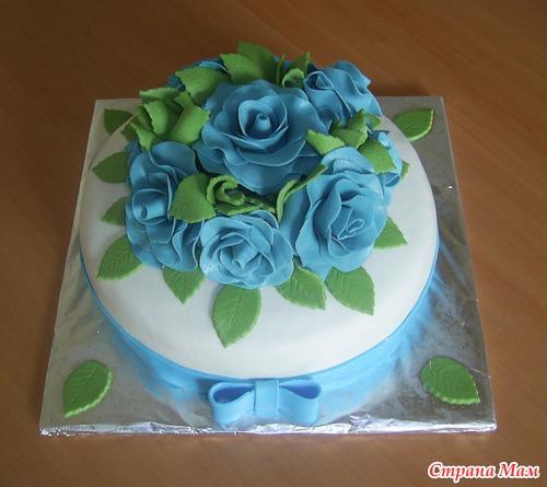 Торт с розами из мастики - пошаговый рецепт с фото на Повар