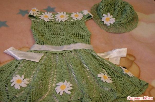 платье для девочки пряжа виолет идея из онлайн на осинке все в