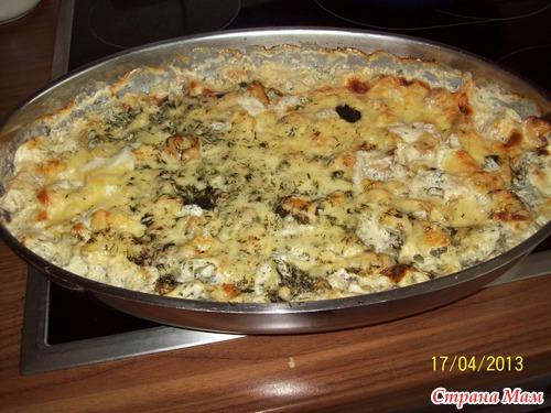 Запеканка с мясом и картофелем