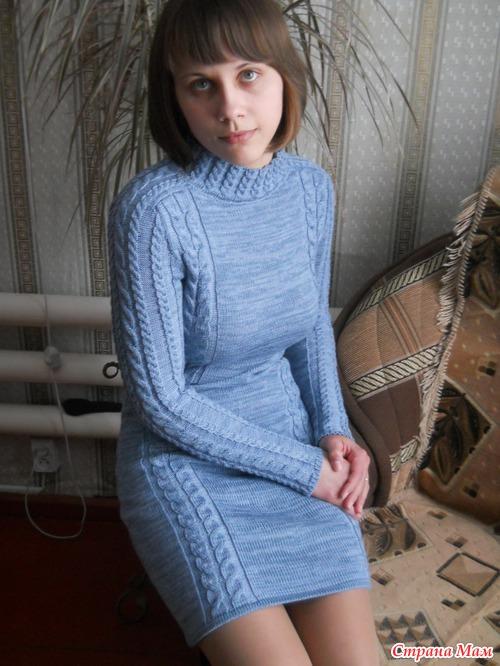 вязаное машинной вязкой фото платье