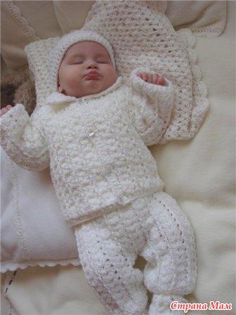 новорожденному мальчику все в ажуре вязание крючком страна мам
