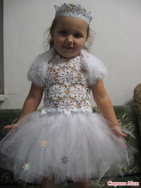 новогодний костюм снежинки вязание страна мам