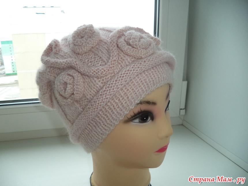 оригинальная шапка спицами вгу вязаные головные уборы