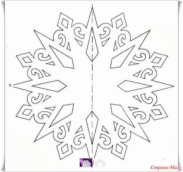 Новогодняя копилочка))) Объемная снежинка-звезда