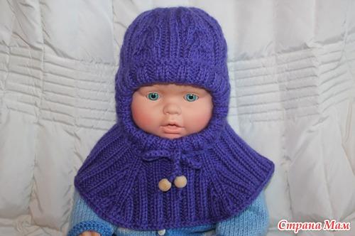 Схема вязания детской шапки шлема фото 279