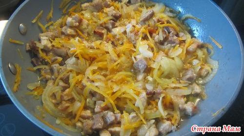 Запеканка с мясом и макаронами