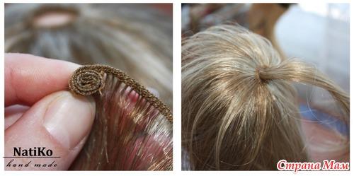 Как сделать волосы кукле из трессов фото 48