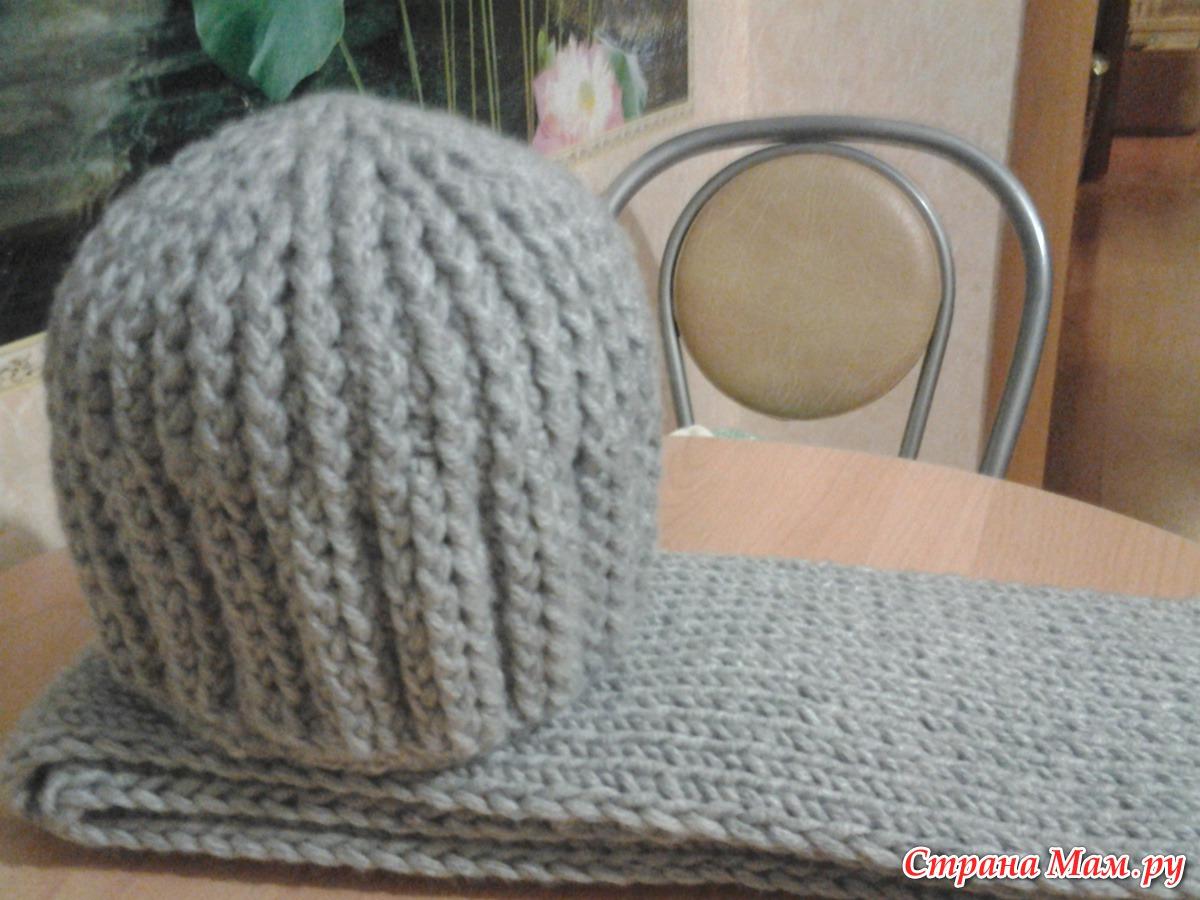 зимние шапки для всей семьи вязание для детей страна мам