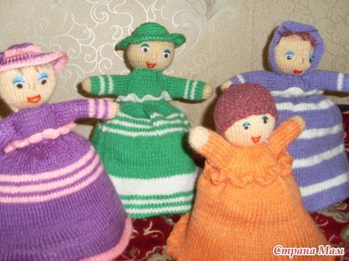 Вязаная кукла-грелка на чайник - Кукляндия - Страна Мам