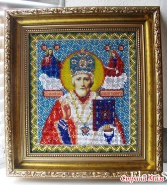 Икона Николай Чудотворец (бисер)