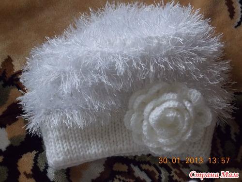 шапки вязанные из травки с описанием - 2