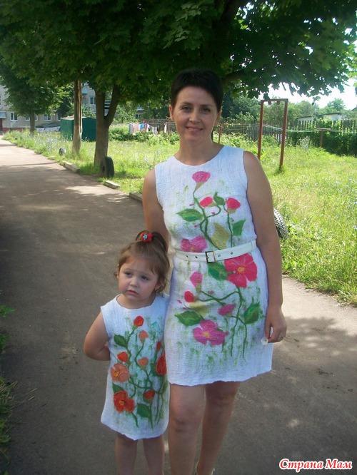 Платье из марли для девочки. Мастер-класс.