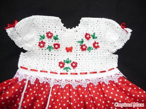 Платье для внученьки на годовасие.