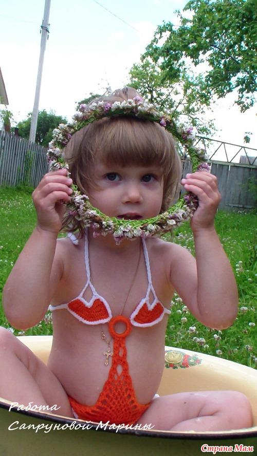 Купальник для дочки... сердечно-мандриновый)
