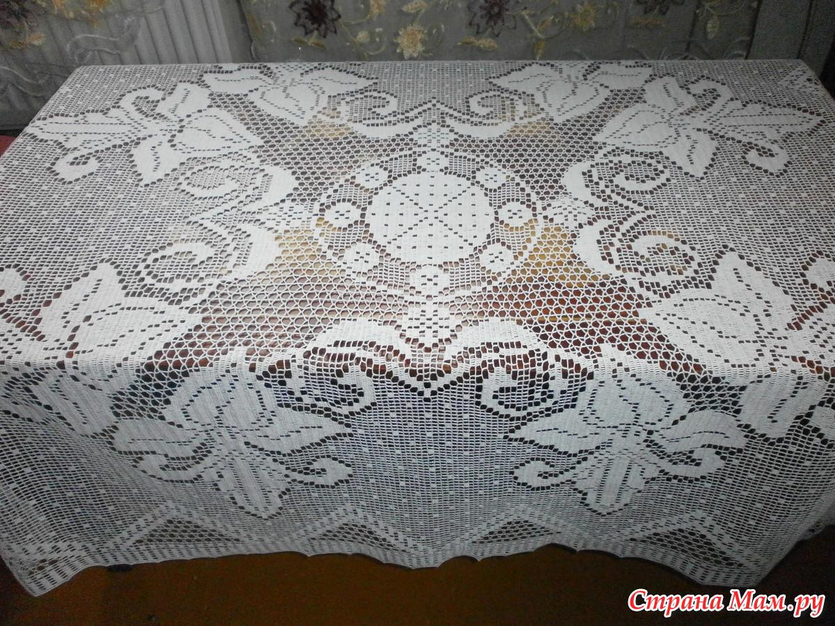 филейная скатерть вязание страна мам