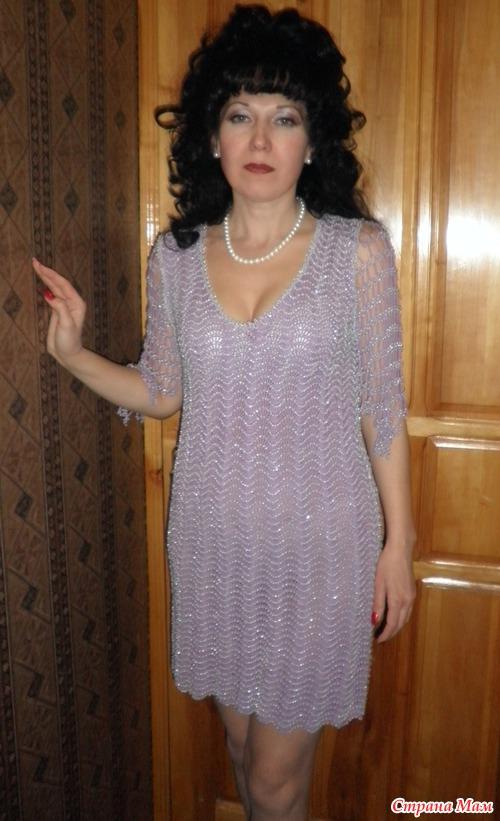 *Нарядное платье с бисером
