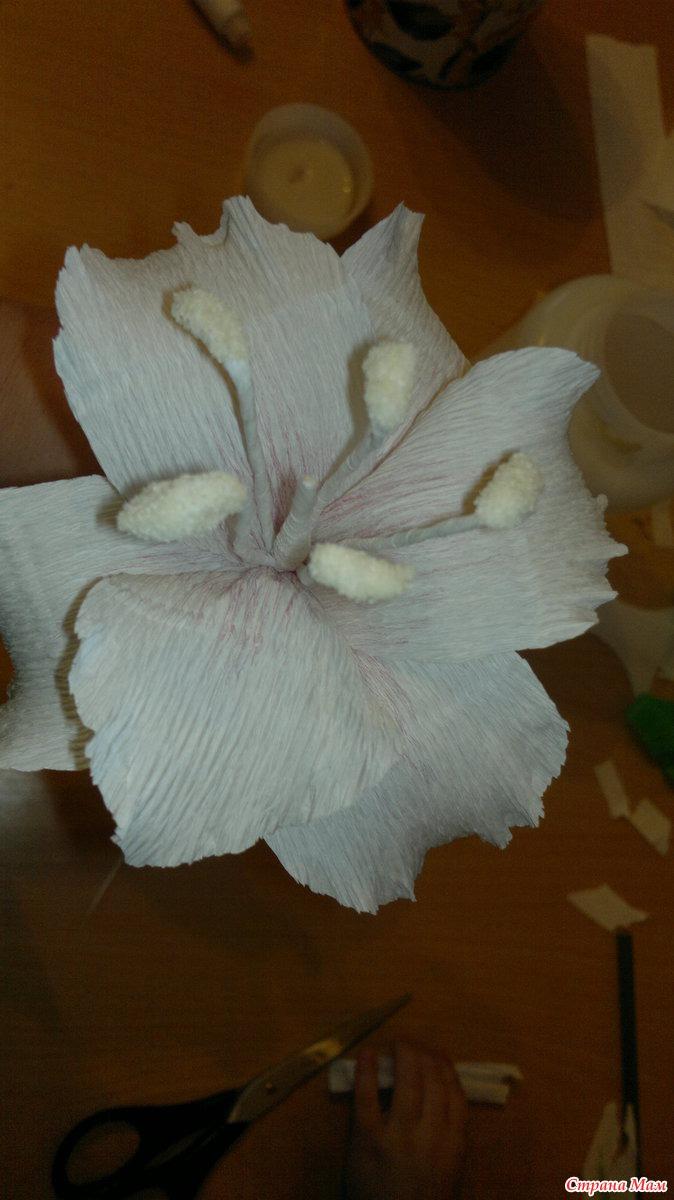 лилии из горфированной бумаги