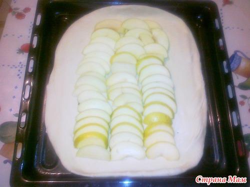 Слоённый пирог с яблоками