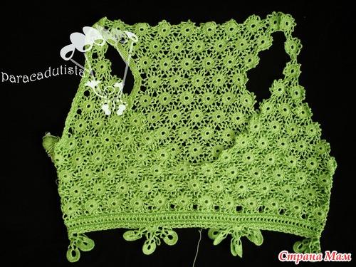 Моё зелёное кружевное платье от Натальи Якименко