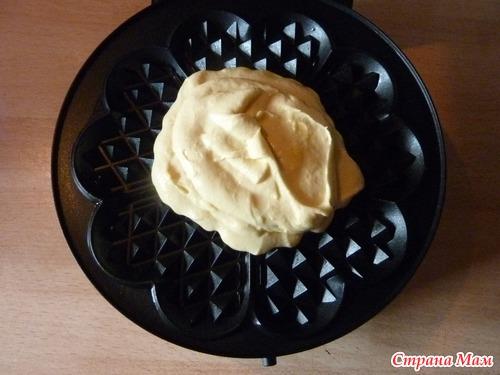 Домашние  вафли