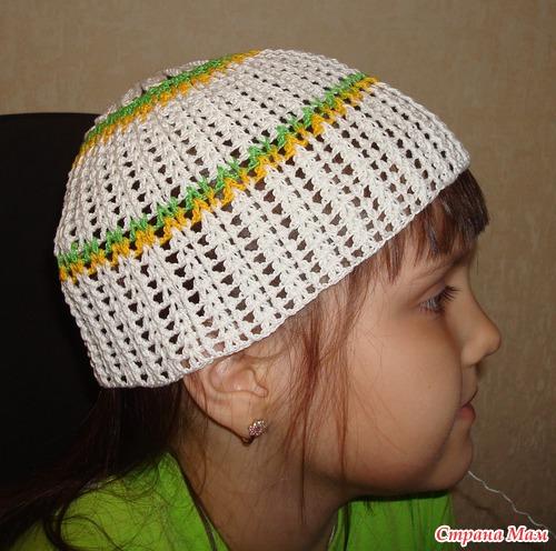 Ромашковая панамка для девочек.