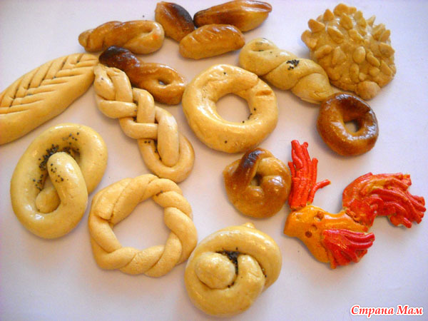 Поделки из соленого теста: хлеб и выпечка - каталог статей на 99