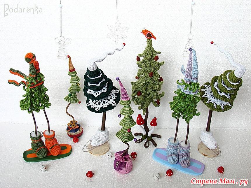 Оригинальные елочки на новый год своими руками