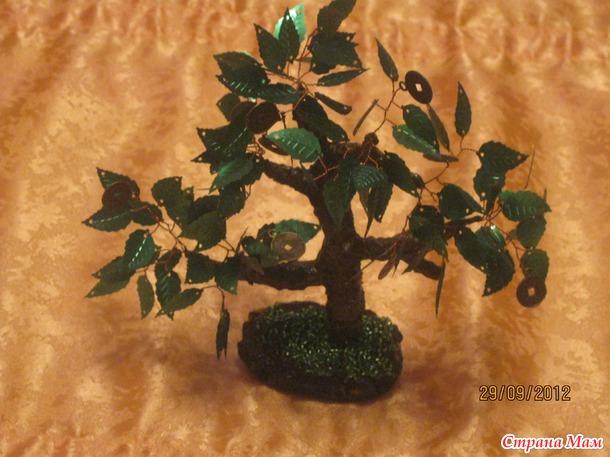 Вот такие деревца из пайеток.